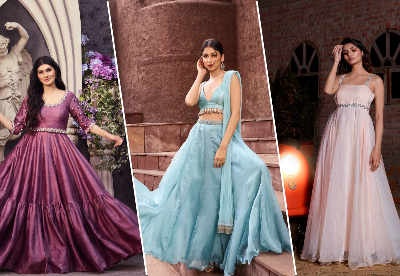 Buy indo western gown